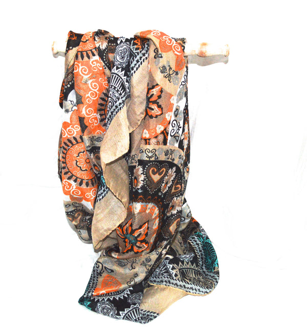 Shino Bohemain Print  Vegan Scarf