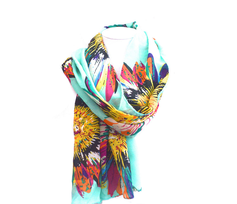Sunflower Mint Vegan Scarf