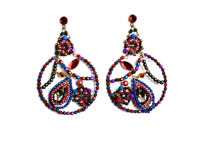 Moroccan Nights Multi Colored Earrings