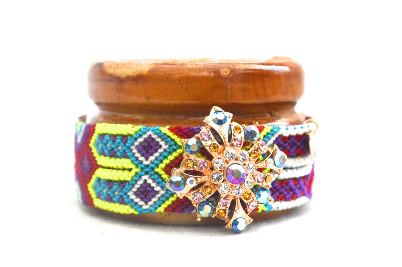 Volcano Purple Beach Princess Cloth Bracelet