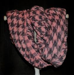Classic Houndstooth Infinity Vegan Scarf