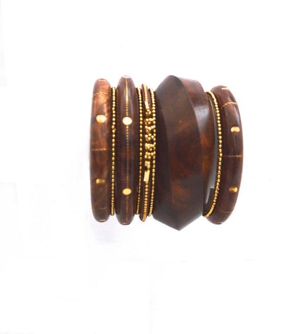 Ilia Raye Wood Bangle Bracelets