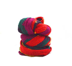 Multi Color Rebecca Knitted Vegan Scarf