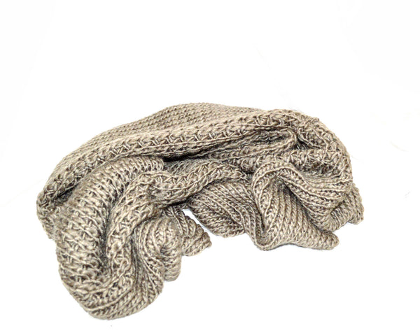 Chestnut Dust Oversized Vegan Scarf