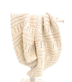 White Cream Knit Vegan Scarf