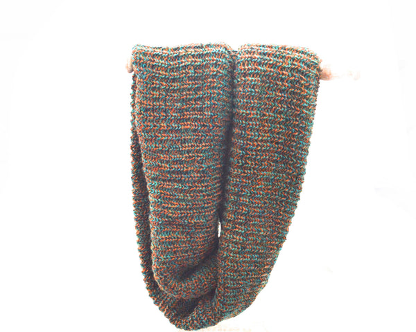 Lane Knitted Infinity Vegan Scarf