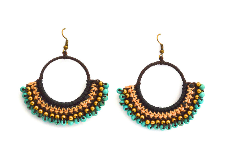 Bohemian Thread Fan Earrings