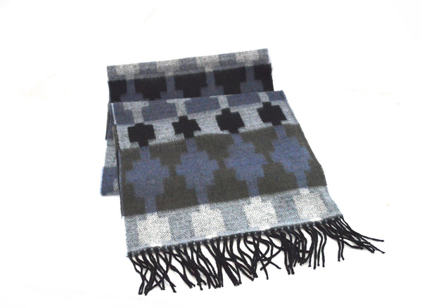Modern Blue Tassel  Men's Vegan Scarf