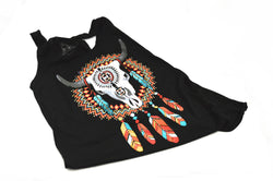 Bull Skull Dreamcatcher Vegan Tank Top