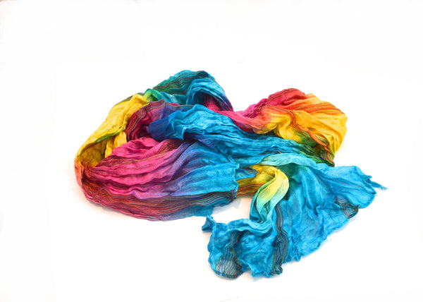 Bohemian Vibrant Peace and Love  Vegan Scarf