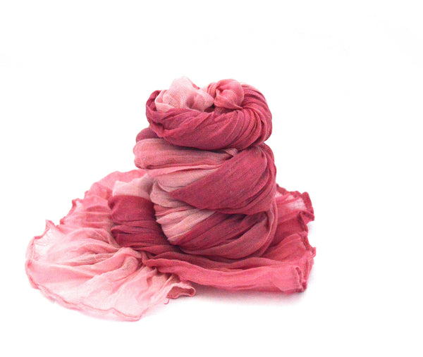 Pink Rose Vegan Scarf