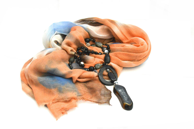 Earth Tone Tie Dye Vegan Scarf