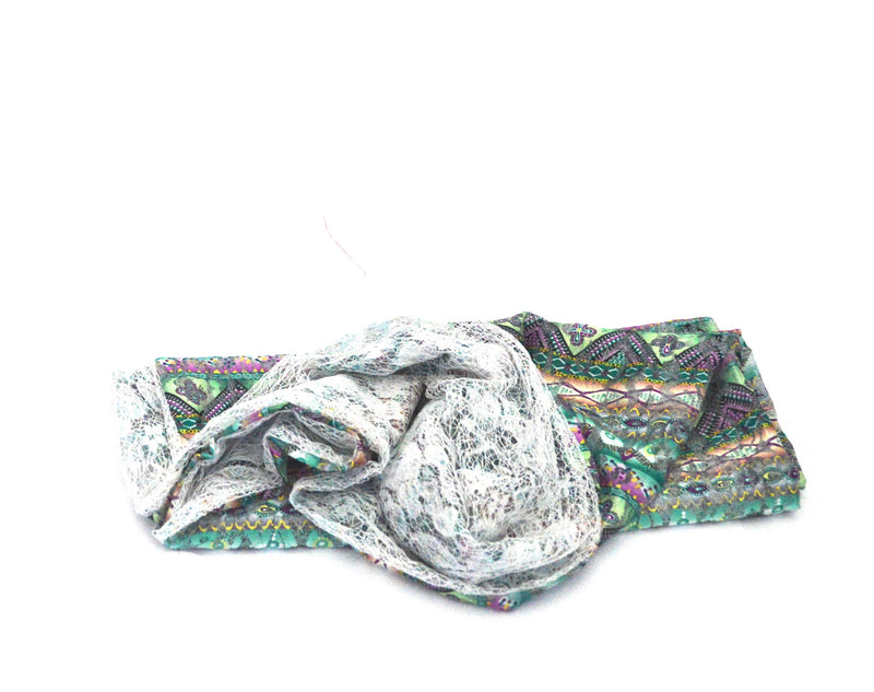 Lime Lace Infinity Vegan Scarf