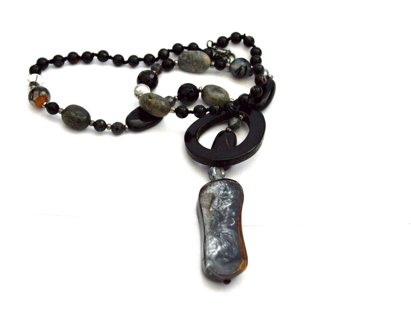 Seabrooke Bohemian Vegan Stone Necklace