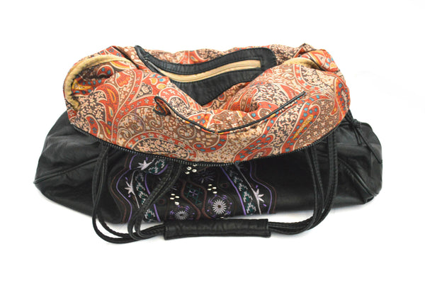 Bohemian Skyviolet  Oversized Washed Vegan Bag