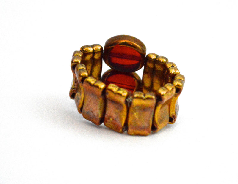 Fz Tarnished Bohemian Vegan Stretch Ring-Style