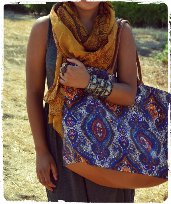 Dalmary Bohemian Oversized Vegan Canvas Bag