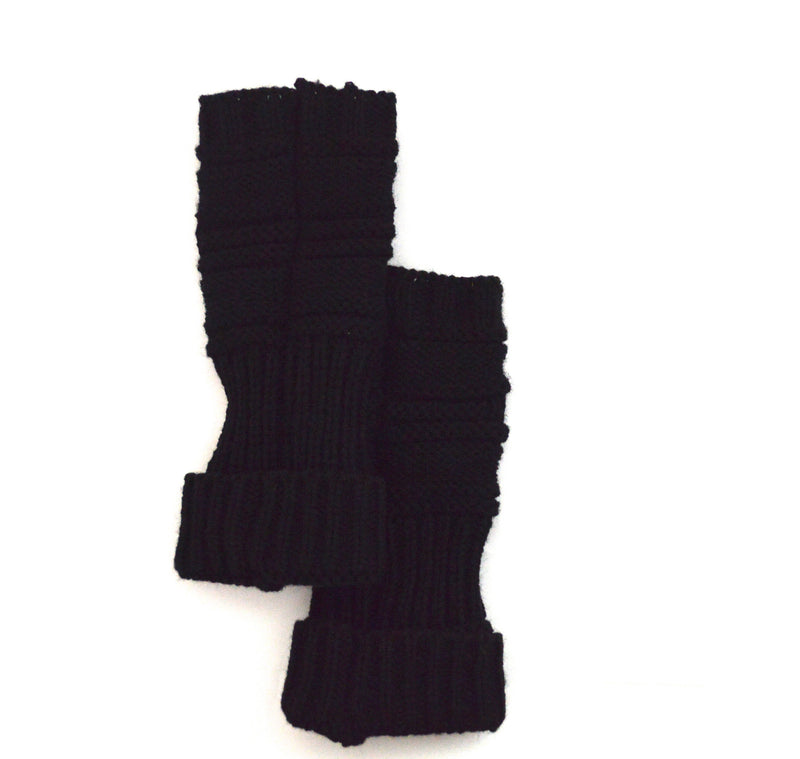 Black Vegan Knit Hand Warmers