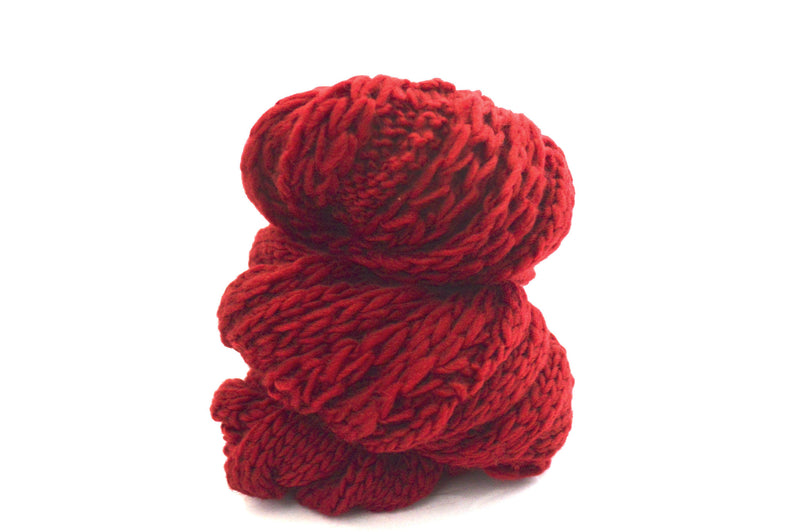 Classic Deep Red Vegan Infinity Knit Scarf