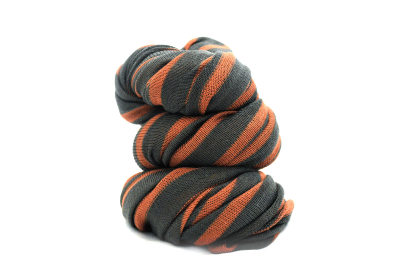Rust Orange and Grey Infinity Vegan Scarf