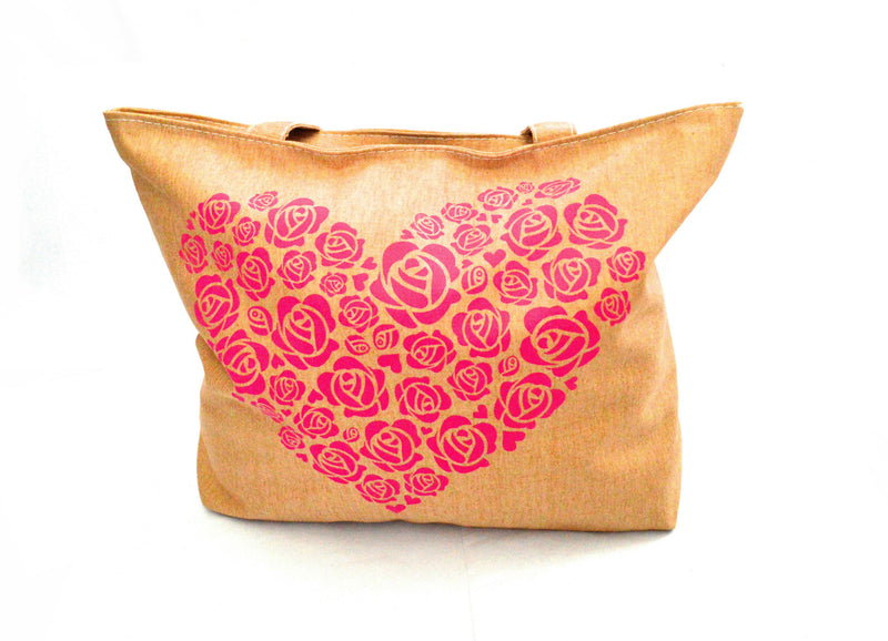 Blossom Give Love Heart Vegan Bag