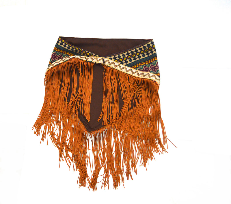 Bohemian Fringe Nazari Vegan Scarf and Vegan Leather Cuff