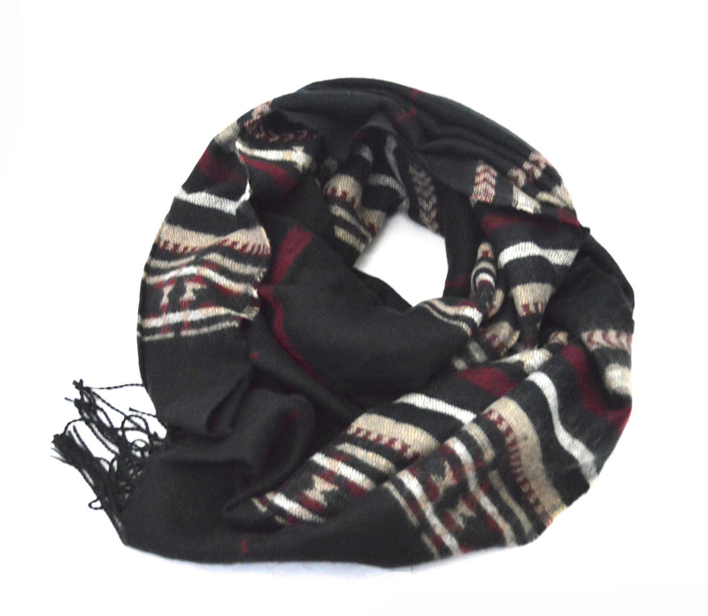 Bohemian Black Rain Vegan  Shawl and Saffron Stone Bahjah Ring