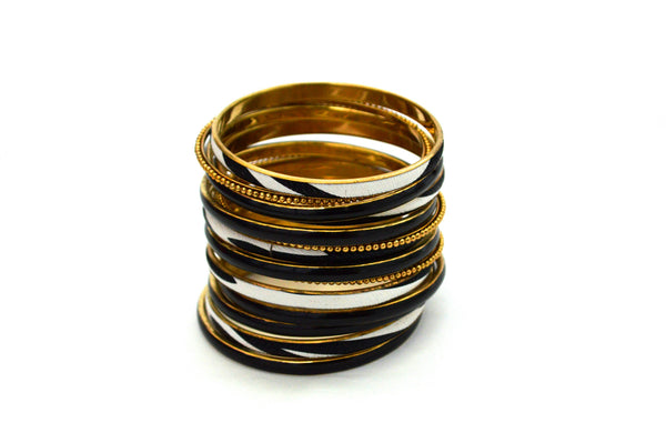 Black and White Vegan Bangles