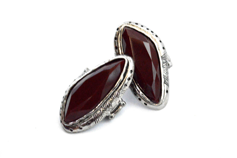 Maroon Stone Vegan Ring