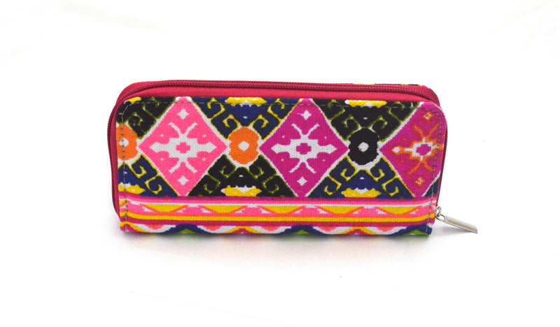 Primrose Bohemian  Vegan Canvas Wallet