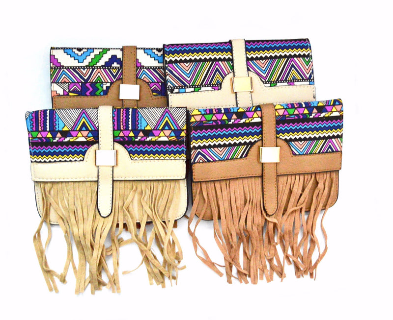 Bohemian 70's Fringe Crossbody Vegan Bag