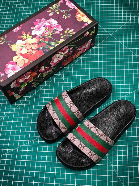 """Stay Ready"" Gucci Sandals - Shoe Harbor"