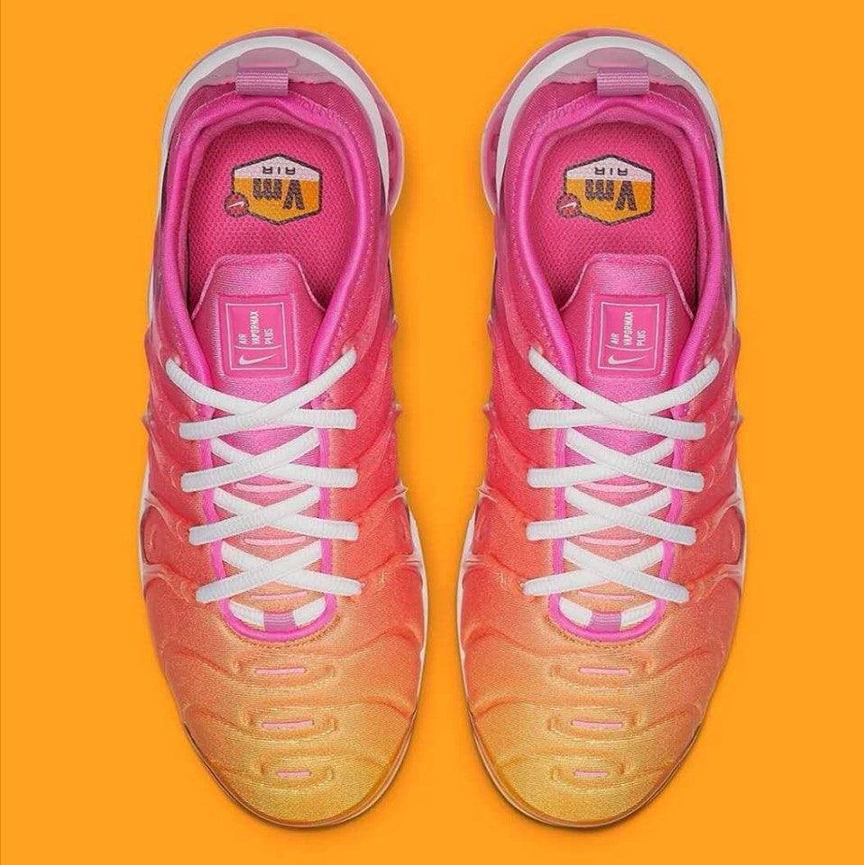 Air Max PLUS TN Pink and Yellow - Shoe Harbor