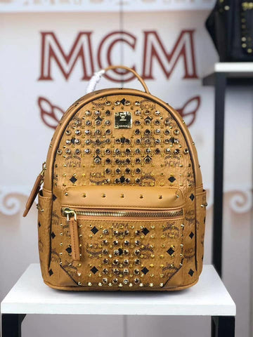 MCM Bedazzled Backpack (Gold)