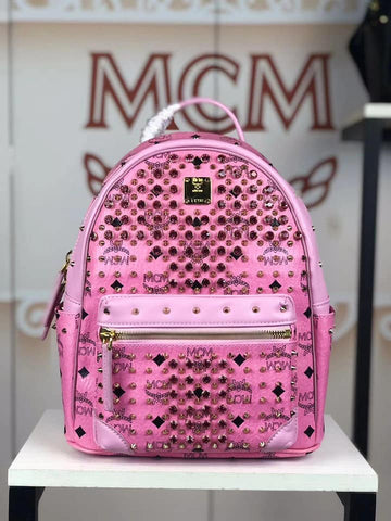MCM Bedazzled Backpack (Pink)