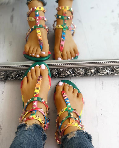 """Over The Rainbow"" Multi Strap Sandals"