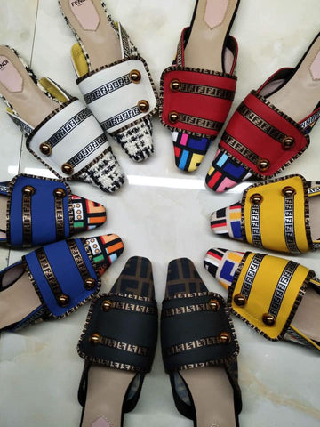 """I Get it how I live it"" Fendi Mule Sandals - Shoe Harbor"