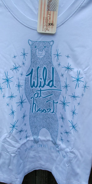 Wild at Heart Bear Long Sleeved Tee