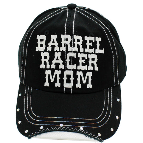 Barrel Racer Mom Rhinestone Baseball Cap