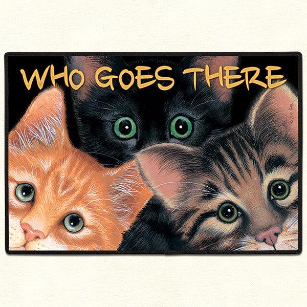 Who Goes There Peeping Tom Rug Door Mat