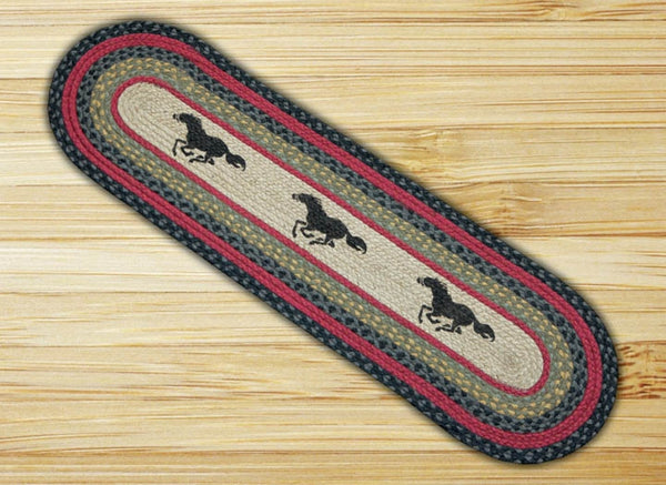 Running Horse Mustang Jute Table Runner