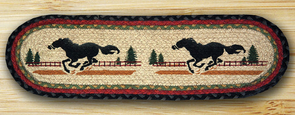 Running Horse Mustang Table Mat or Stair Tread