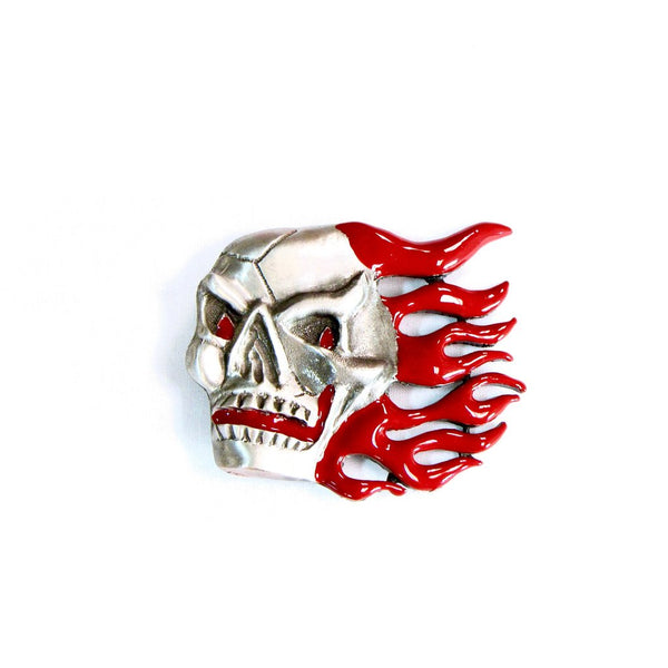 Flaming Skull Belt Buckle Made in USA