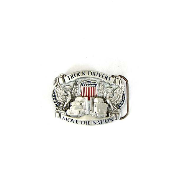 Truck Drivers Move The Nation Belt Buckle Made in USA