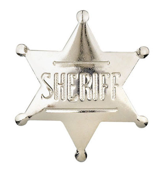 Wild West Gold or Silver Sheriff Badge Made in USA