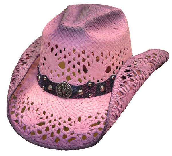 Pink Ombre Straw Hat - Your Choice of Color