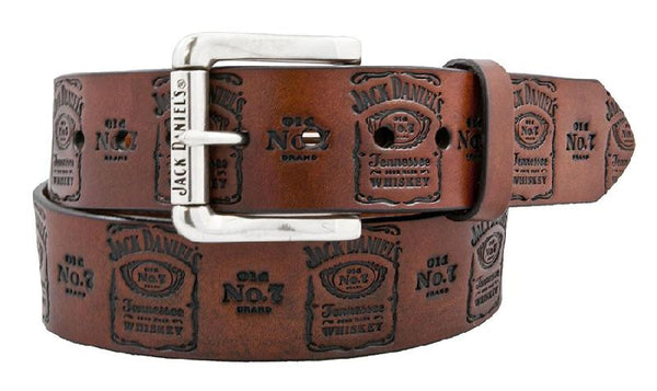 Jack Daniel's JD Old No. 7 Brown Leather Belt