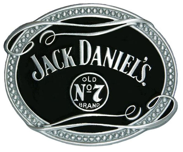 Jack Daniel's Old No 7 Brand Oval Belt Buckle