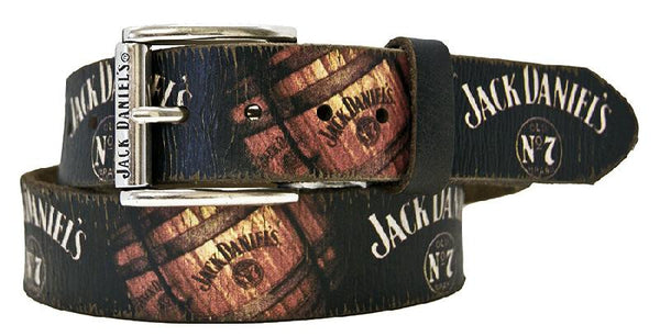 Jack Daniel's Old No. 7 Distressed Look Leather Belt