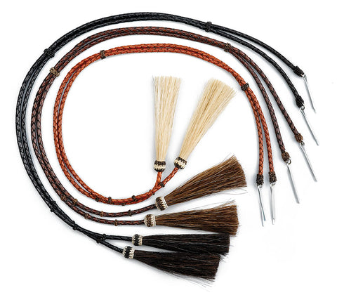 Leather and Horsehair Stampede Strings